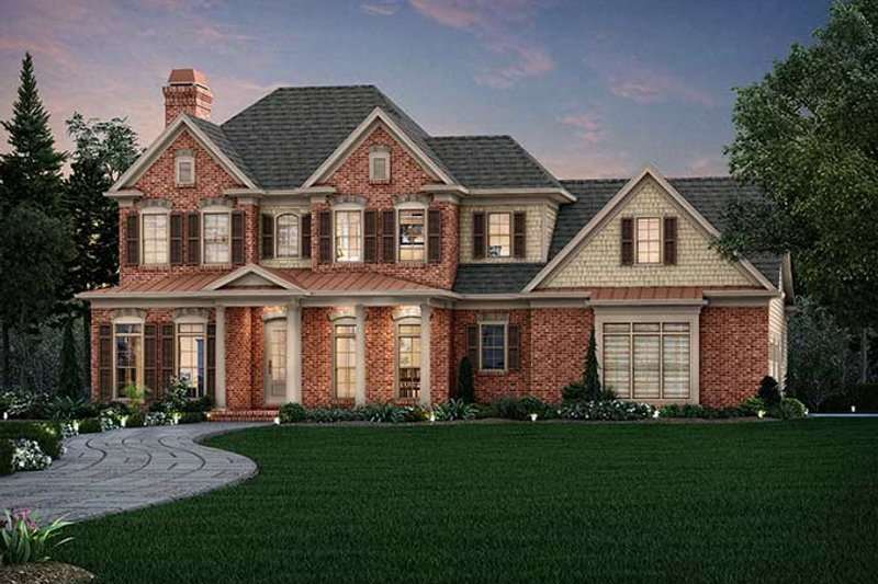 Architectural House Design - Traditional Exterior - Front Elevation Plan #927-963