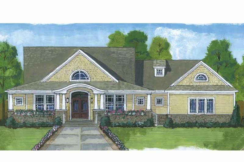 Craftsman Exterior - Front Elevation Plan #46-822 - Houseplans.com