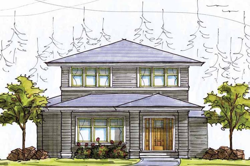 Home Plan - Prairie Exterior - Front Elevation Plan #895-69