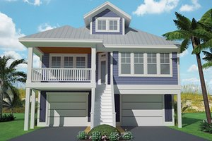 Dream House Plan - Craftsman Exterior - Front Elevation Plan #991-25
