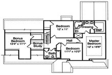 Craftsman Floor Plan - Upper Floor Plan Plan #46-290