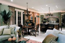 House Plan Design - Mediterranean Interior - Family Room Plan #453-383