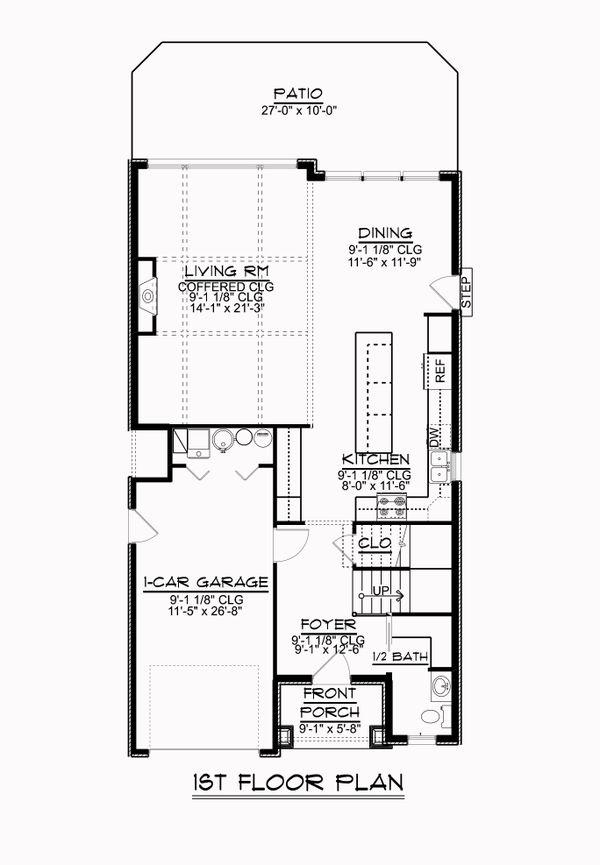 Dream House Plan - Craftsman Floor Plan - Main Floor Plan #1064-84