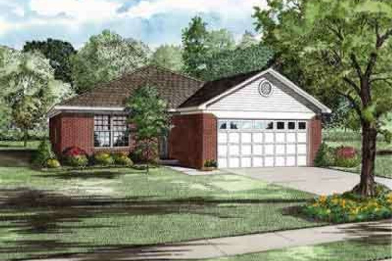 Ranch Exterior - Front Elevation Plan #17-2250