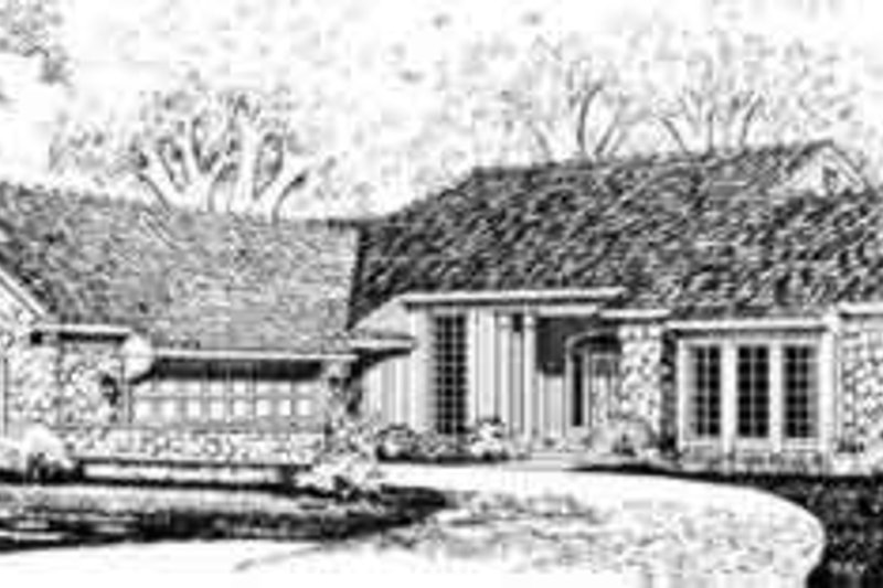 House Blueprint - Traditional Exterior - Front Elevation Plan #72-465