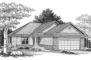 Traditional Style House Plan - 2 Beds 1 Baths 1125 Sq/Ft Plan #70-229 Exterior - Front Elevation