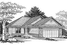 Dream House Plan - Traditional Exterior - Front Elevation Plan #70-229
