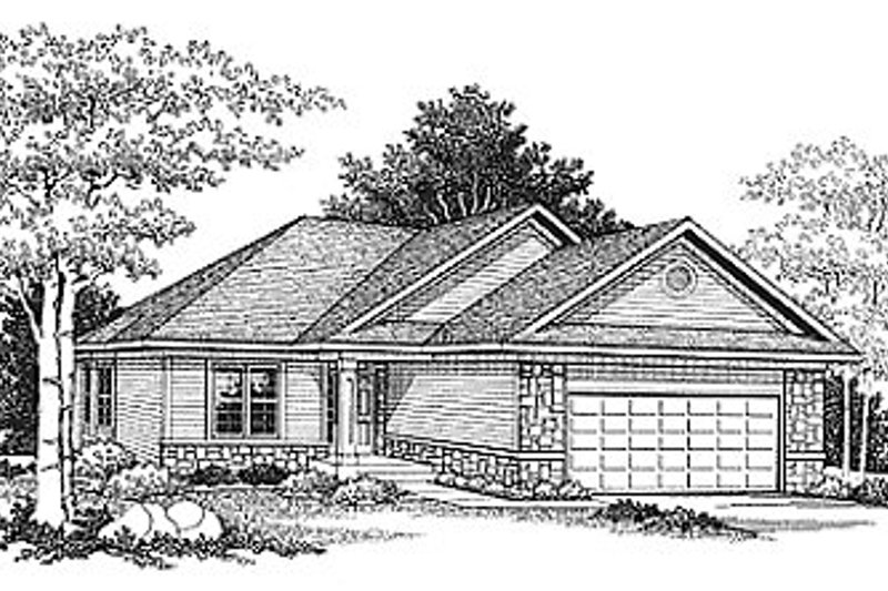Traditional Exterior - Front Elevation Plan #70-229 - Houseplans.com