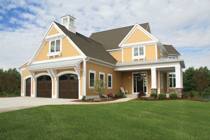 Country Exterior - Front Elevation Plan #928-250