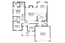 Colonial Floor Plan - Main Floor Plan Plan #1010-69