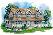 Country Style House Plan - 4 Beds 2.5 Baths 2115 Sq/Ft Plan #18-344 Exterior - Front Elevation