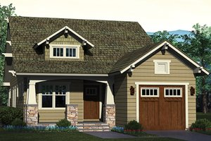 House Plan Design - Craftsman Exterior - Front Elevation Plan #453-618