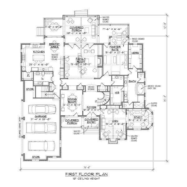 European Floor Plan - Main Floor Plan #1054-94