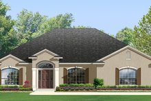 Architectural House Design - Adobe / Southwestern Exterior - Front Elevation Plan #1058-96
