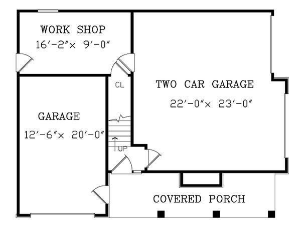 Craftsman Floor Plan - Main Floor Plan Plan #456-12