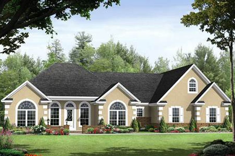 Traditional Exterior - Front Elevation Plan #21-252 - Houseplans.com