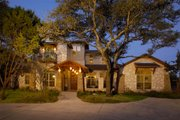 Mediterranean Style House Plan - 4 Beds 4.5 Baths 3937 Sq/Ft Plan #472-2 Exterior - Front Elevation