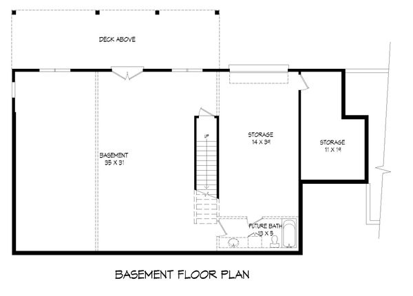 Country Floor Plan - Lower Floor Plan #932-62