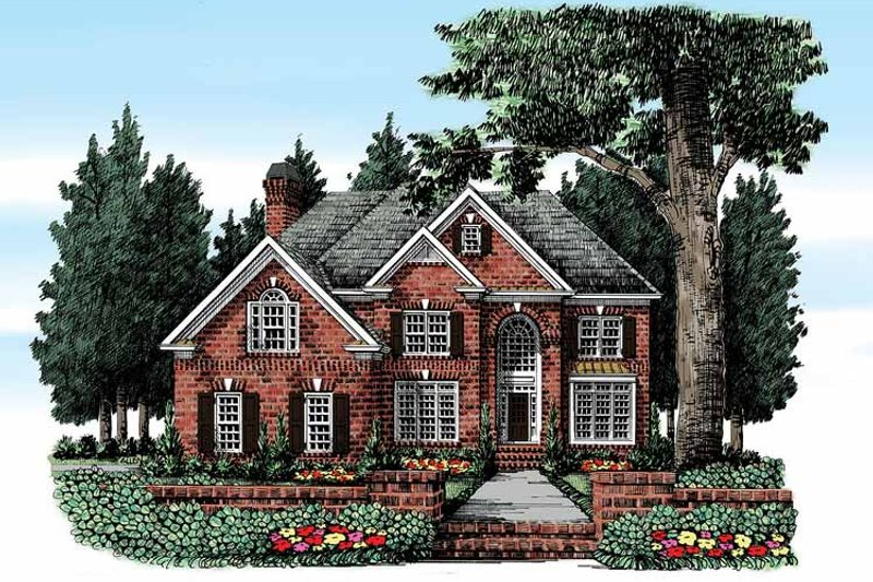 Classical Exterior - Front Elevation Plan #927-367