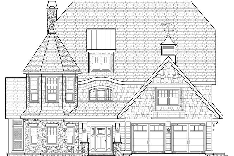 Craftsman Exterior - Front Elevation Plan #928-34 - Houseplans.com