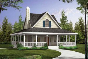 Country Exterior - Front Elevation Plan #72-1025