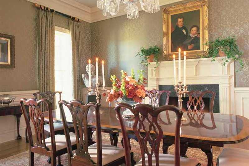Classical Interior - Dining Room Plan #137-307 - Houseplans.com