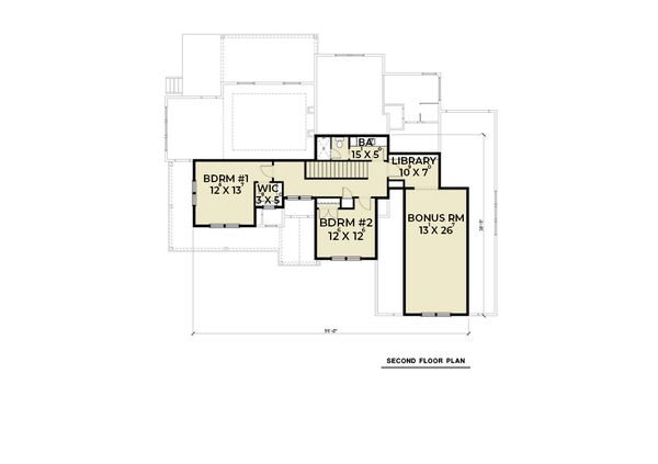 Contemporary Floor Plan - Upper Floor Plan Plan #1070-82