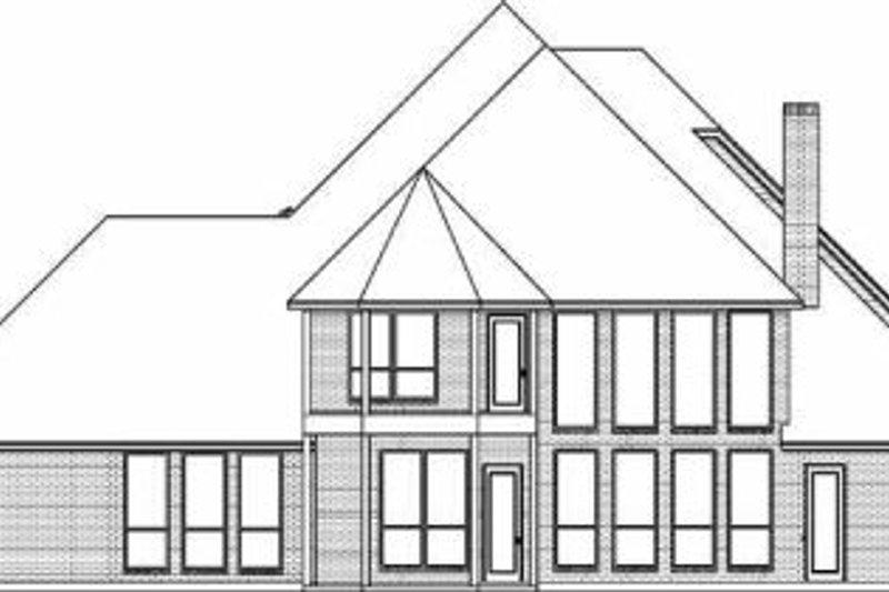European Exterior - Rear Elevation Plan #84-155 - Houseplans.com