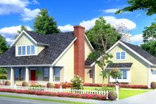 Country Exterior - Front Elevation Plan #513-2141