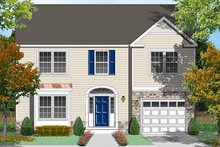 Architectural House Design - Traditional Exterior - Front Elevation Plan #1053-76