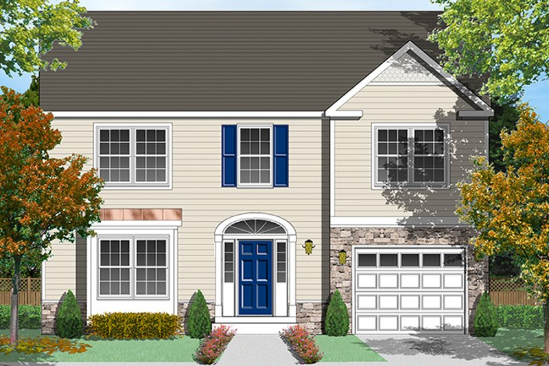 Traditional Exterior - Front Elevation Plan #1053-76 - Houseplans.com