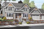 Traditional Style House Plan - 3 Beds 2.5 Baths 2432 Sq/Ft Plan #312-146 Exterior - Other Elevation