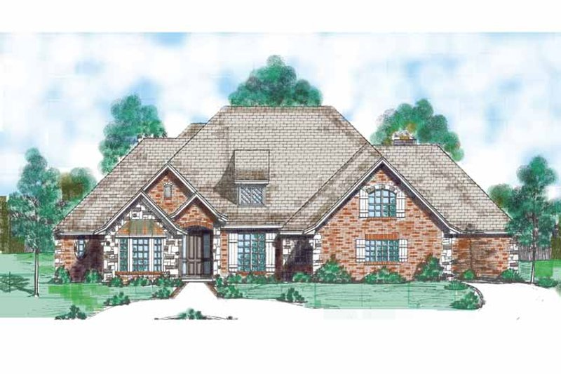 Traditional Exterior - Front Elevation Plan #52-286 - Houseplans.com