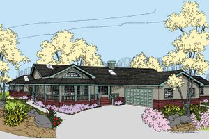 House Design - Country Exterior - Front Elevation Plan #60-1035