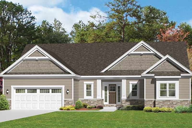 Ranch style house plan 3 beds 2 5 baths 1796 sq ft plan for 1010 family plan