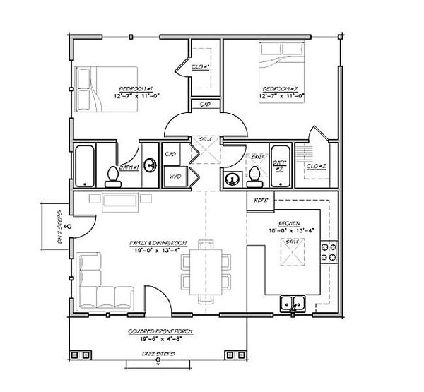 House Plan Design - Bungalow style house plan