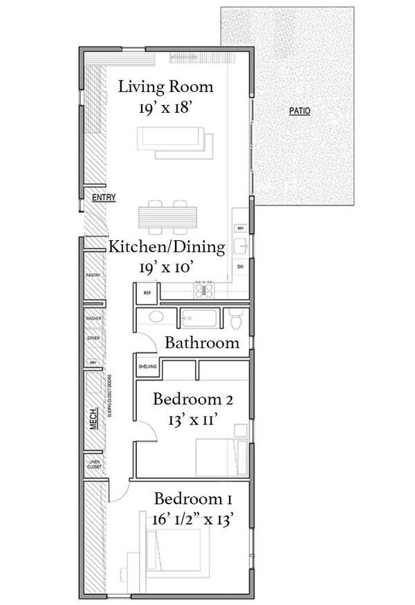 Modern Floor Plan - Main Floor Plan Plan #497-27