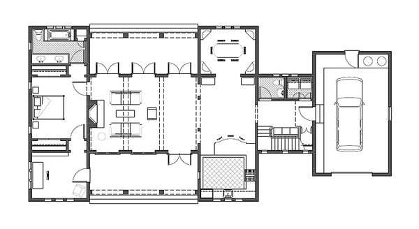 Mediterranean Floor Plan - Main Floor Plan Plan #492-1