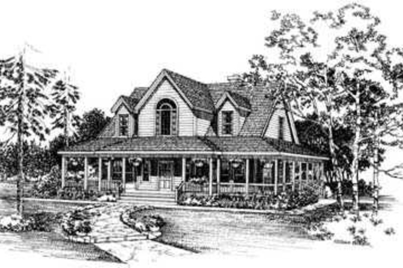 Country Exterior - Front Elevation Plan #72-112 - Houseplans.com