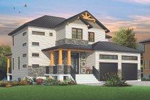 Craftsman Exterior - Front Elevation Plan #23-2704