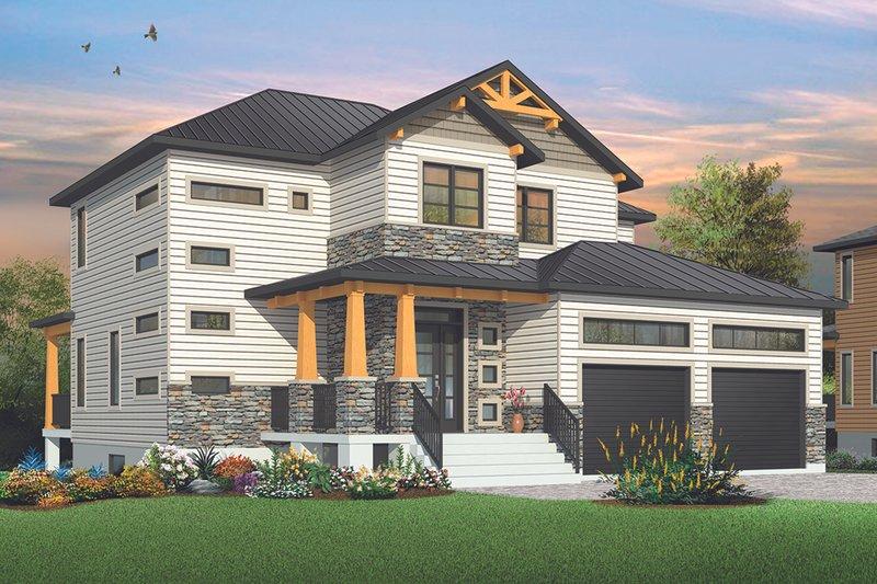 Dream House Plan - Craftsman Exterior - Front Elevation Plan #23-2704