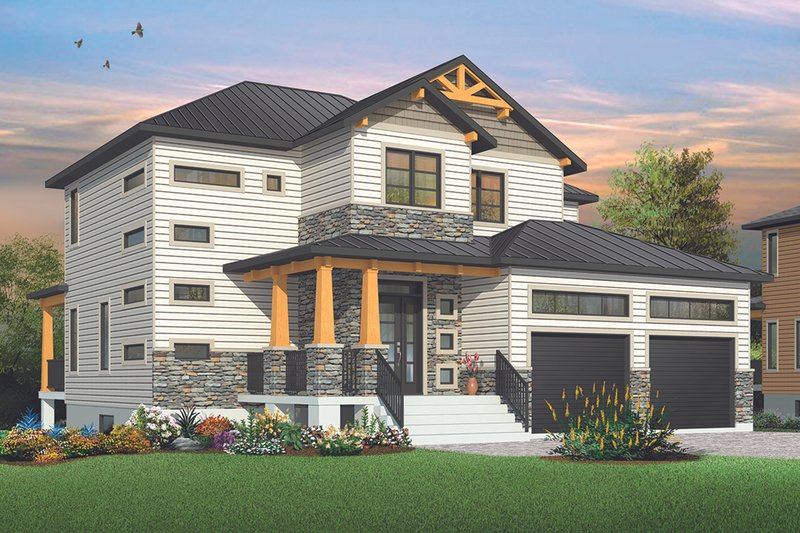 Craftsman Exterior - Front Elevation Plan #23-2704