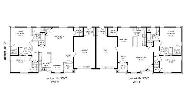 Craftsman Floor Plan - Main Floor Plan Plan #932-27