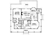 Country Style House Plan - 3 Beds 2.5 Baths 1968 Sq/Ft Plan #929-48 Floor Plan - Main Floor Plan