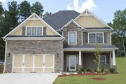 Craftsman Style House Plan - 4 Beds 3 Baths 2564 Sq/Ft Plan #419-231 Exterior - Front Elevation