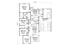 Country Floor Plan - Main Floor Plan Plan #513-2095
