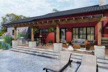 Dream House Plan - Farmhouse Exterior - Outdoor Living Plan #120-274