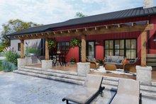 Architectural House Design - Farmhouse Exterior - Outdoor Living Plan #120-274