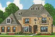 European Style House Plan - 6 Beds 4.5 Baths 4350 Sq/Ft Plan #424-62 Exterior - Front Elevation
