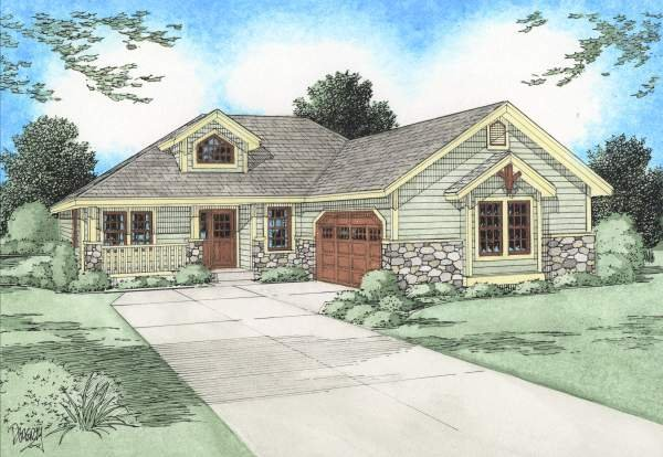 Country Exterior - Front Elevation Plan #126-128 - Houseplans.com